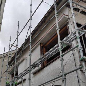 練馬区,全改修増築修繕3面架け,最上段調整二段誂え板工法,バルコニークランプ止め